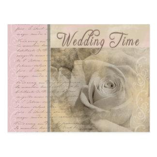 Romantic Vintage Wedding Rose Post Cards