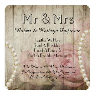 Romantic & Vintage Wedding Vow Renewal Invitation