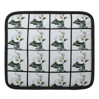 Romantic Vintage White Calla Lilies Sleeve For iPads
