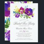 "Romantic Violet Floral Bridal Shower Invitation<br><div class=""desc"">A romantic and chic bridal shower invitation featuring watercolor flowers and a coordinating design on the back.</div>"
