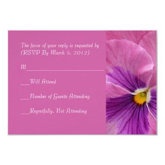 Romantic Violet RSVP card