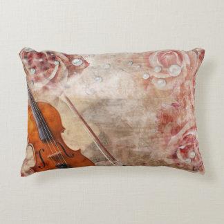 Romantic Violin Accent Pillow