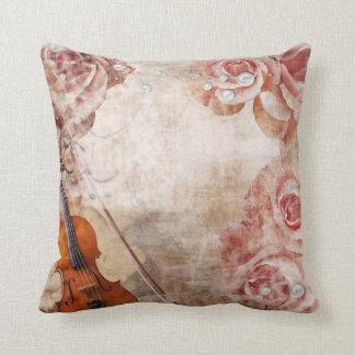 Romantic Violin Throw Pillow
