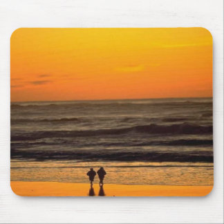 Romantic Walk On The Beach At Sunset Mouse Mat
