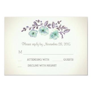 Romantic watercolor blossoms RSVP cards
