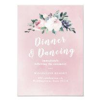 Romantic watercolor botanical floral reception card