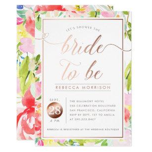 Romantic bridal shower invitations announcements zazzle romantic watercolor floral bridal shower invite filmwisefo Choice Image