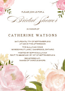 Bridal shower invitations zazzle romantic watercolor flowers bridal shower invite filmwisefo