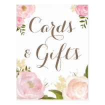 Romantic Watercolor Flowers Cards & Gifts Wedding