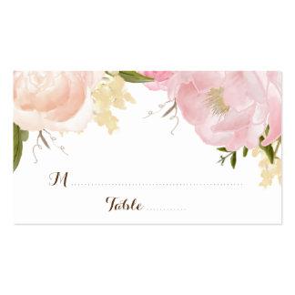 Romantic Watercolor Flowers Escort Card - CUSTOM