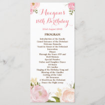 Romantic Watercolor Flowers Program - CUSTOM