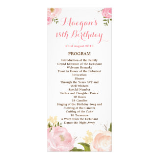 Romantic Watercolor Flowers Program - CUSTOM