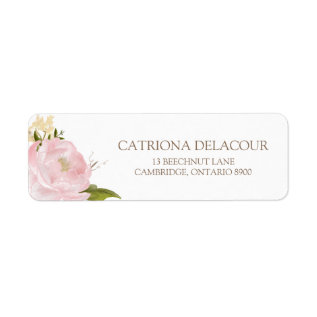 Romantic Watercolor Flowers Return Address Label at Zazzle