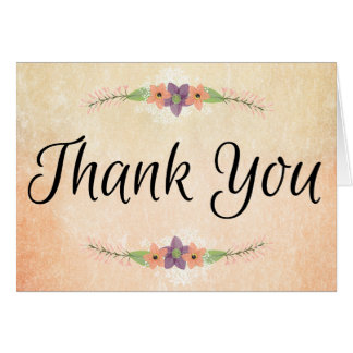 Romantic Watercolor Flowers Thank You Notes