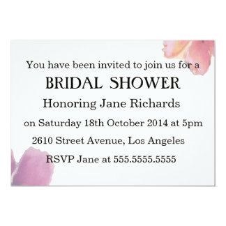 Romantic Watercolor Flowers Wedding Bridal Shower Card