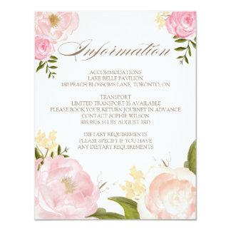 Romantic Watercolor Flowers Wedding Information Card
