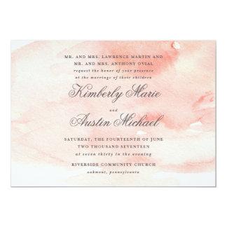Romantic Watercolor Wedding Invitation