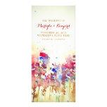 romantic watercolor wedding programs- fall flowers full color rack card