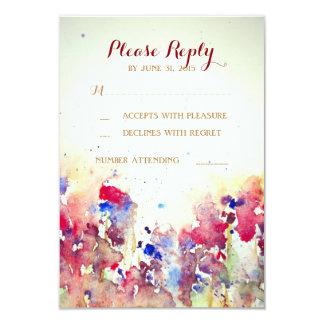 Romantic Watercolor Wedding RSVP Cards