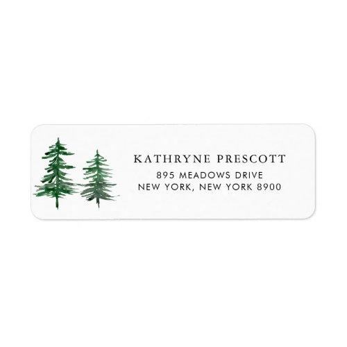 Romantic Watercolor Woodland Return Address Label