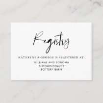 Romantic Watercolor Woodland Wedding Registry Card