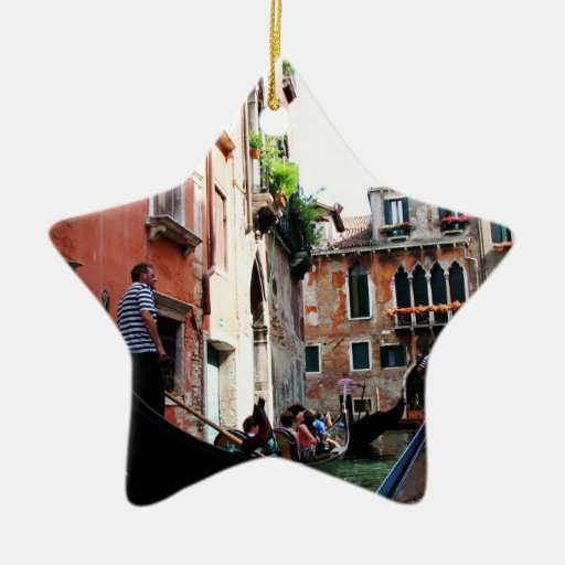 Romantic Waters Double-Sided Star Ceramic Christmas Ornament