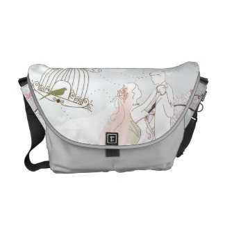 romantic wedding bag silver