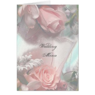 Romantic Wedding Menu card