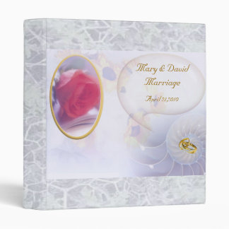 Romantic Wedding Photo Album 3 Ring Binders