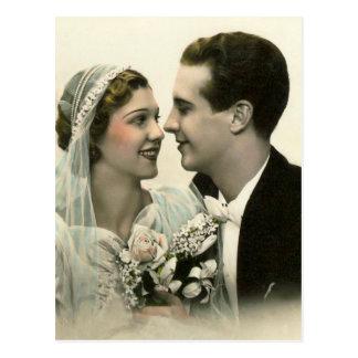 Romantic Wedding Postcard