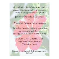 Romantic Wedding Red Hibiscus Invitation