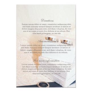 Romantic Wedding Ring - Wedding band- Directions Card