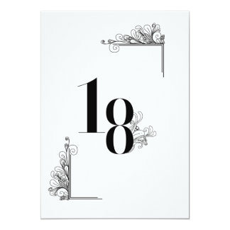 Romantic Wedding table to number card