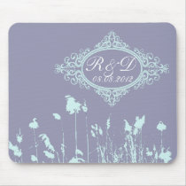 romantic western country rustic wedding mouse pad
