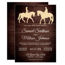 Romantic Western Horse Riders Wedding Invitation