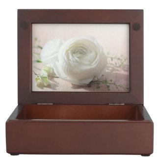 Romantic White Rose Memory Box