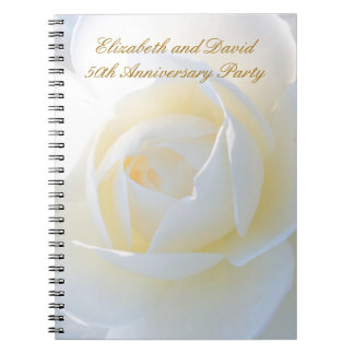 Romantic White Rose Party Planning Notebook