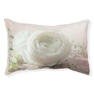 Bride Themed Romantic White Rose Pet Bed