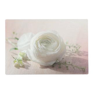 Romantic White Rose Placemat