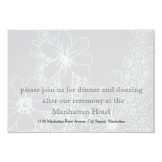 Romantic White Wedding Flowers Card