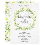 Romantic Wild Flowers | Wedding Invitation