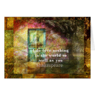 ROMANTIC William Shakespeare LOVE Quote Card