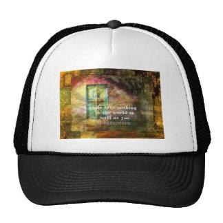 ROMANTIC William Shakespeare LOVE quote Hat