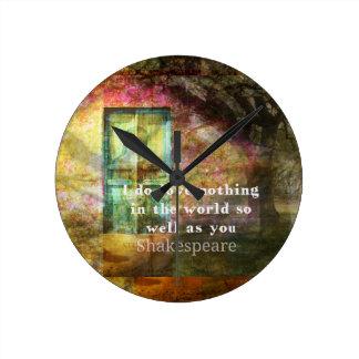 ROMANTIC William Shakespeare LOVE quote Round Clock