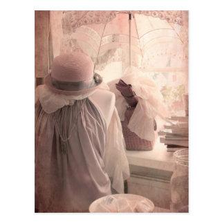 Romantic Window Display Postcard