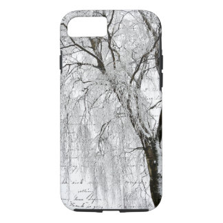 Romantic Winter Willow iPhone 7 Case