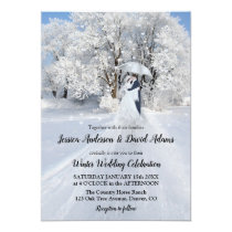 Romantic Winter Wonderland Wedding Invitation