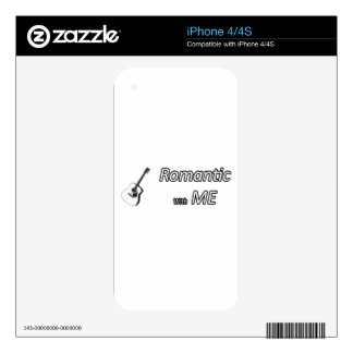 Romantic with me.png decal for the iPhone 4