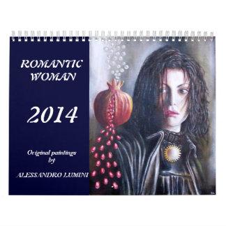 ROMANTIC WOMAN 2014 WALL CALENDARS
