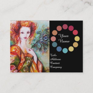 Makeup Artist Cosmetics Colour Wheel Business Cards Zazzle